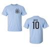 Argentine Soccer Player Lionel Messi Men's T-Shirt Front & Back (1451)