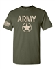 US Army Star with Flag on the Sleeve Men's T-Shirt (1453)