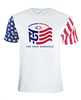 Trump/Pence Logo TP For Your Bunghole Stars & Stripes Sleeves Men's T-Shirt (1491)