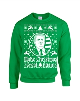 Make Christmas Great Again Donald Trump Unisex Crew Sweatshirt (1552)