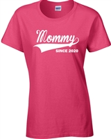 Mommy Since 2017 Ladies Junior Fit T-Shirt (1570)