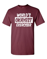 World's Okayest Exerciser Men's T-Shirt (1608)