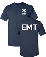 EMT Paramedic Emergency Services Front & Back Men's T-Shirt (1618)