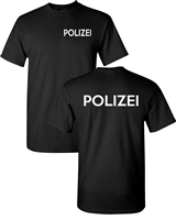 German Police Polizei Front & Back Men's T-Shirt (1620)