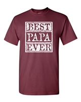 Best Papa Ever Men's T-Shirt (1605)
