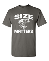 Size Matters - Fish - Men's T-Shirt  (1625)