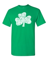 St. Patrick's Day Distressed Shamrock Men's T-Shirt (1581)
