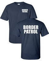US Border Patrol Printed on Front & Back Men's T-Shirt  (1628)