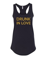 Drunk In Love Ladies Racer Back Tank Top (1633)
