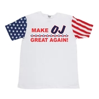 Make OJ Great Again Stars & Stripes Sleeves Men's T-Shirt (1658)