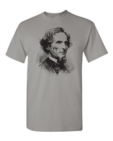 Jefferson Davis Confederate President Image Men's T-Shirt (1665)