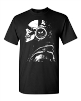 Skeleton With Headphones Halloween Men's T-Shirt (1676)