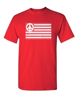 American Flag Peace Can't We All Get Along Men's T-Shirt (1690)