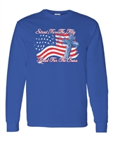 Stand For The Flag Kneel For The Cross Men's LONG SLEEVE T-Shirt (1692)