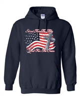 Stand For The Flag Kneel For The Cross HOODIE (1692)