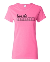 Save The Boobs Breast Cancer Awareness Ladies Junior Fit T-Shirt (1693)
