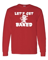 Let's Get Baked Christmas Cookies Men's LONG SLEEVE T-Shirt  (1705)