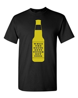 When The Going Gets Tough, Get Beer Men's T-Shirt (1701)