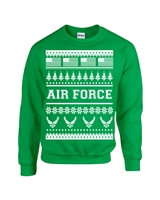 US Air Force Ugly Sweater Design Christmas Crew Sweatshirt (1708)