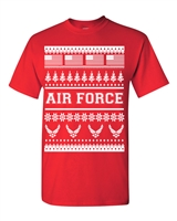 US Air Force Ugly Sweater Design Christmas Men's T-Shirt (1708)