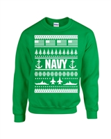 US Navy Ugly Sweater Design Christmas Crew Sweatshirt (1710)