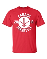 Canada Free Style Skiing Men's T-Shirt (1740)