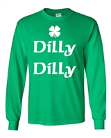 Dilly Dilly St. Patrick's Day Shamrock LONG SLEEVE Men's T-Shirt (1762)