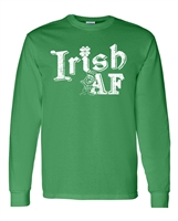 Irish AF St. Patrick's Day LONG SLEEVE Men's T-Shirt (1767)
