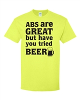 Abs Are Great But Have You Tried Beer? Men's T-Shirt (1747)