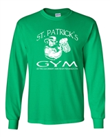 St. Patrick's Day Gym-Getting Our Drinking Arms Ready LONG SLEEVE Men's T-Shirt (1771)