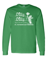 St. Patrick's Day Madness Dilly Dilly Men's LONG SLEEVE T-Shirt (1796)