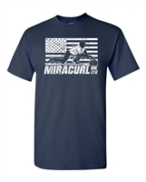 Miracurl On Ice USA Curling Team Men's T-Shirt (1792)