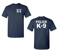 Police K-9 Front & Back Men's T-Shirt (1832)