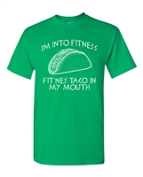 I'm Into Fitness Taco in My Mouth Men's T-Shirt (1861)
