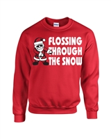 Flossing Through the Snow Unisex Crew Sweatshirt (036)