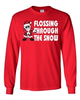 Flossing Through the Snow Unisex LONG SLEEVE T-Shirt (036)