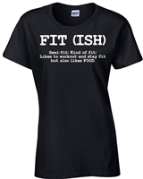 Fit (ISH) Fitness Workout Ladies Junior Fit T-Shirt (086)