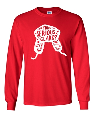 You Serious Clark? Men's LONG SLEEVE T-Shirt (113)