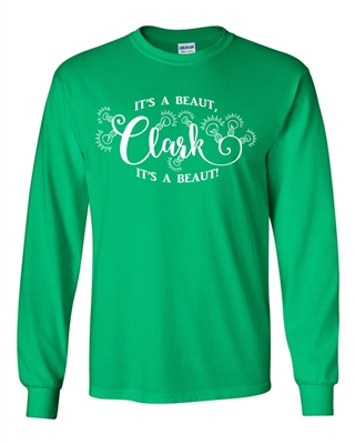 It's A Beaut Clark Christmas Tree Men's LONG SLEEVE T-Shirt (144)