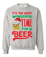 It's The Most Wonderful Time For A Beer SUBLIMATION CREW Sweatshirt