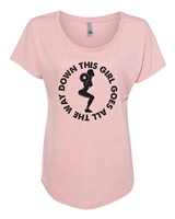 This Girl Goes All The Way Down Ladies SUBLIMATION T-Shirt (NL6760)