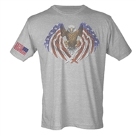 American Eagle Wings With Flag on Sleeve Sublimation Print Men's T-Shirt