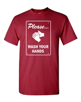 Please Wash Your Hands Men's T-Shirt (1776)