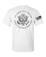 In God We Trust USA Flag On Sleeve Men's T-Shirt BACK PRINT (884)