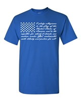 I Pledge Allegiance to the Flag USA Men's T-Shirt (885)