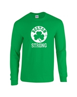 Boston Strong Shamrock Men's LONG Sleeve T-Shirt (749)