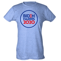 Biden & Harris President 2020 CIRCLE DESIGN LADIES SUBLIMATION T-Shirt