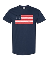 Betsy Ross 13 Star Original Flag Men's T-Shirt (987)