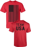 Team USA American Flag Front and Back Men's T-Shirt (751)