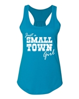 Just A Small Town Girl NL 6338 Ladies Racerback Tank Top (1215)